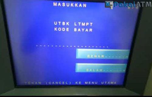 Cara Bayar UTBK via ATM Mandiri