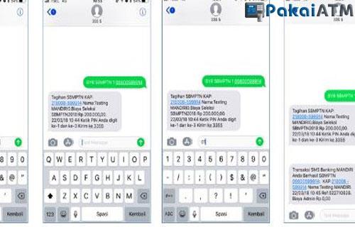 Cara Bayar UTBK via SMS Banking