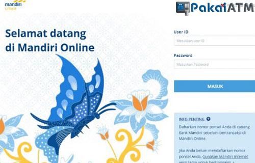Cara Bayar UTBK via Website Mandiri Online