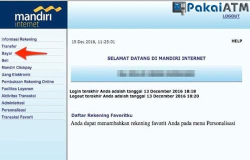Cara Bayar Virtual Account via Internet Banking