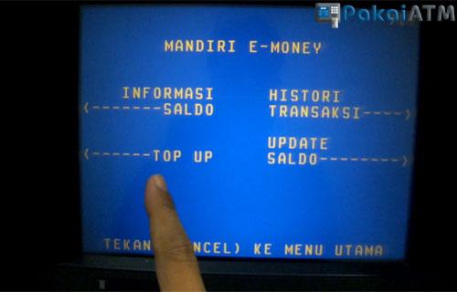 Cara Top up E-Toll Via ATM Mandiri