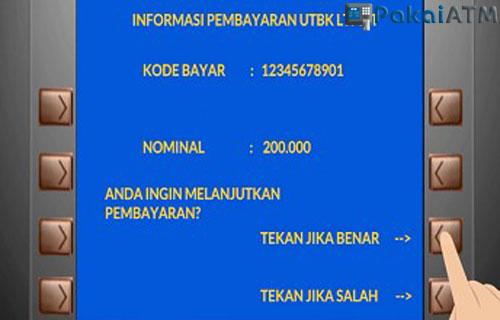 Cara Bayar UTBK via ATM Bersama