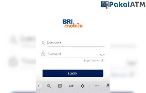 Login ke BRI Mobile