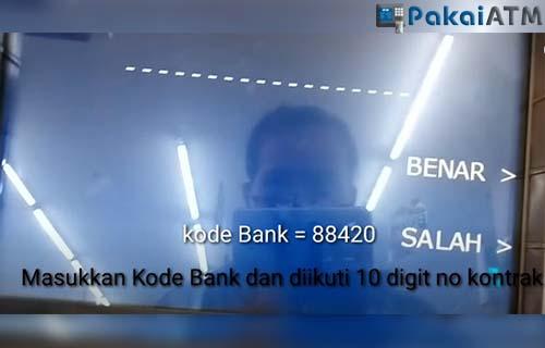 masukkan kode perusahaan Home Credit dan 10 digit nomor kontrak