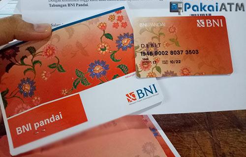 10. Kartu ATM BNI Pandai