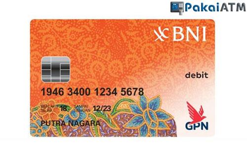 5. Kartu ATM BNI GPN Orange