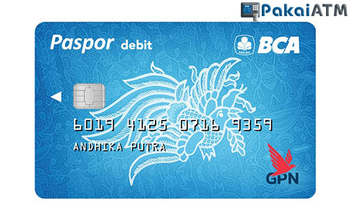 4. Kartu ATM BCA GPN Silver atau Blue