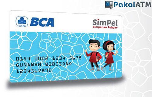 11. Kartu ATM BCA SimPel (Simpanan Pelajar)