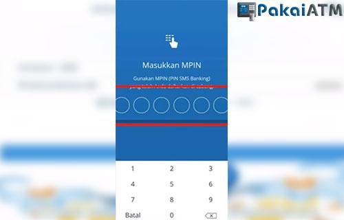 Input MPIN Mandiri Online