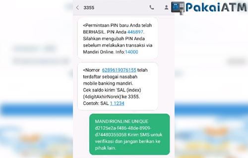 SMS link aktivasi