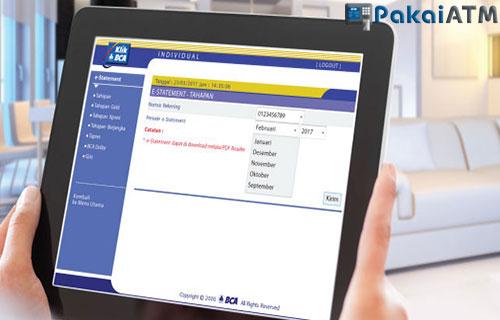 Cara Cek Dan Print Rekening koran BCA Via Internet Banking