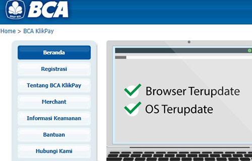 Melihat Nomor MID via Situs Resmi BCA