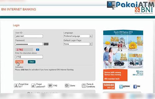 Top Up Ovo via Internet Banking BNI