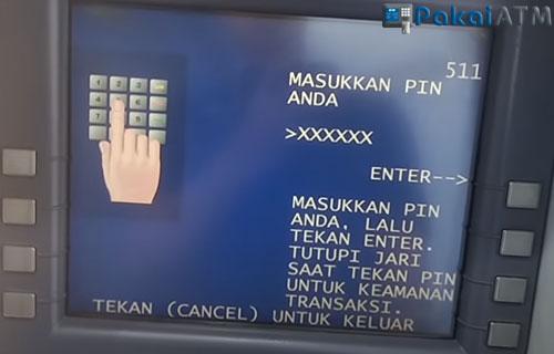 Masukkan nomor PIN ATM