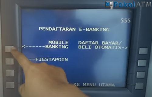 Tekan menu Mobile BankingG