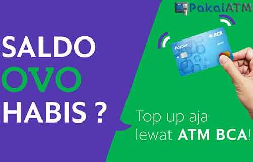 Cara Top Up OVO Lewat ATM BCA
