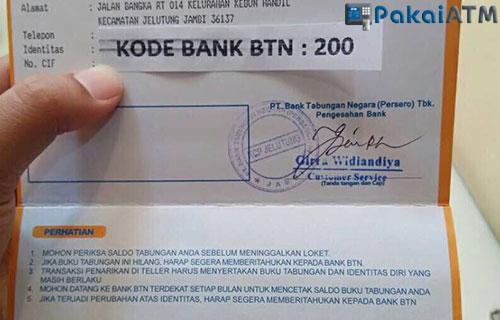 Contoh Membaca Rekening Koran Bank BTN