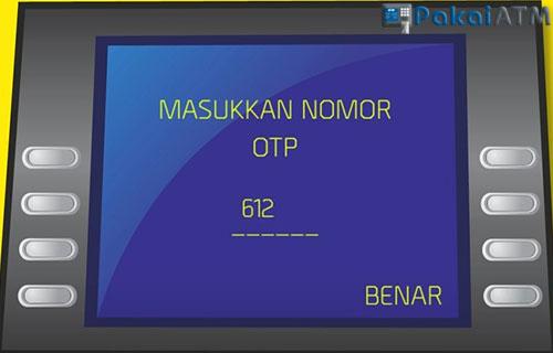 Input Kode OTP yang sudah anda terima