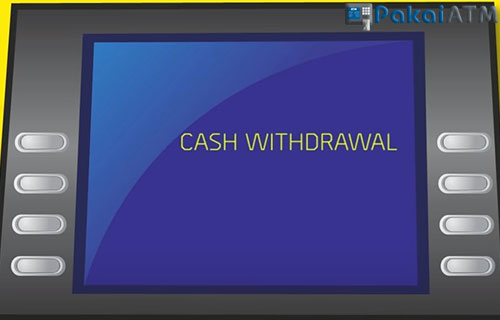 Tekan menu Cash Withdrawal