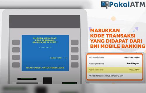 masukkan kode transaksi yang sudah diterima lewat aplikasi