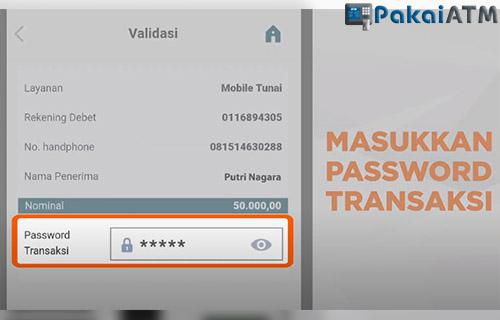 masukkan password transaksi