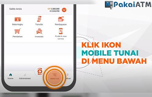 tap menu mobile tunai