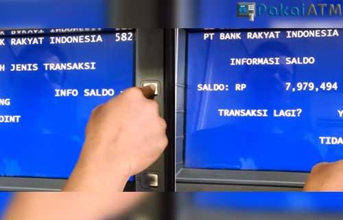 Cara Cek Transferan Masuk di ATM BRI