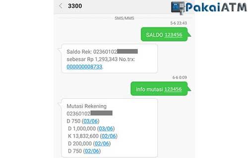 Cara Cek Transferan Masuk via SMS Banking BRI