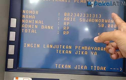 Cara Top Up LinkAja via ATM BRI