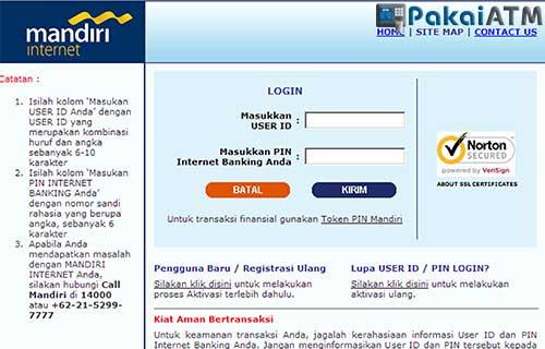 Cek Nomor Rekening Mandiri Melalui Internet Banking