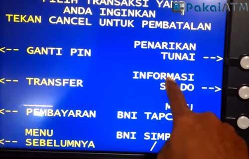 Cek Rekening via ATM BNI