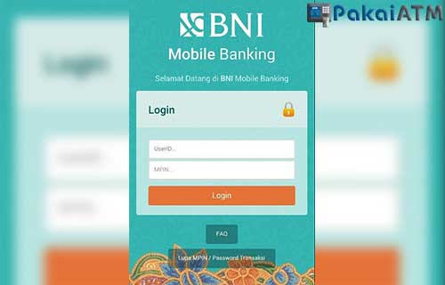Cek Rekening via BNI Mobile