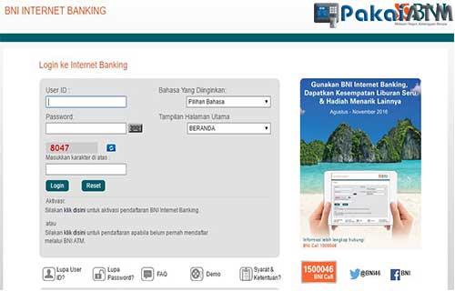 Cek Rekening via Internet Banking BNI