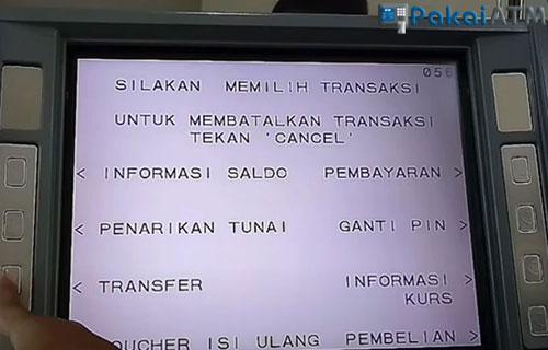 Tekan menu Transfer