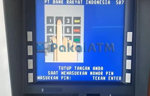 3. masukkan 6 digit nomor PIN ATM