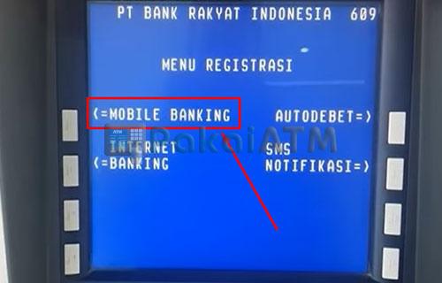 6. Setelah itu tekan menu Mobile Banking