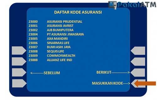 Cara Bayar Premi Prudential Lewat ATM BII