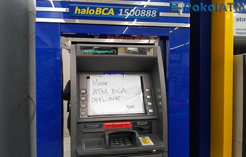 Mesin ATM Rusak