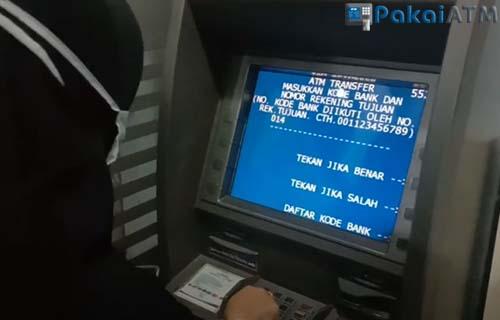 masukkan kode bank diikuti nomor rekening tujuan