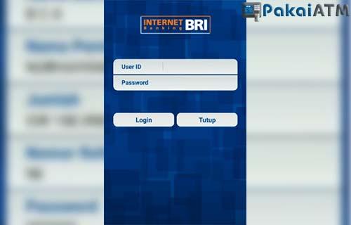 masukkan user id dan password internet banking bri