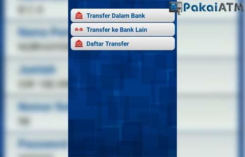 tap menu transfer ke bank lain