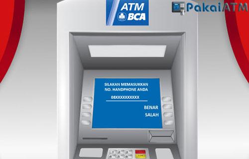 1. Melalui ATM BCA