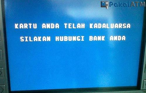 Ciri Ciri Kartu ATM Kadaluarsa