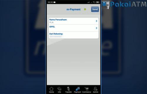 Kemudian silahkan isi nama perusahaan dengan PLN dan ID Pelanggan.