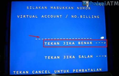Masukkan Nomor Virtual Account No Billing