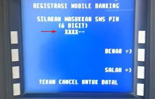 Masukkan PIN SMS Banking