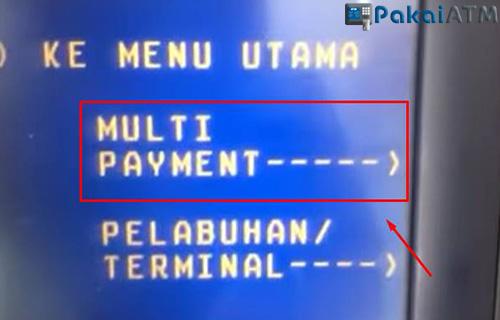 Pilih MULTI PAYMENT