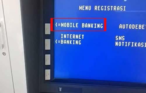 Pilih Menu MOBILE BANKING