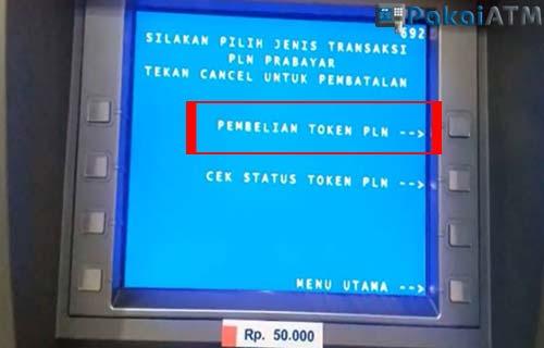 Pilih Menu PEMBELIAN TOKEN PLN.