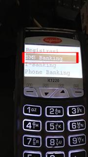 Pilih Menu SMS Banking